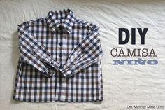 DIY Costura de camisa para bebe niño (patrón gratuito incluido)                                                                                                                                                     Más