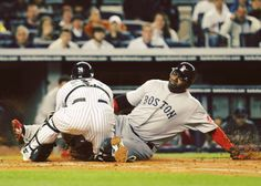 5/15/2011 at #YankeeStadium | David Ortiz homer and double, Red Sox swept Yankees, getting to .500 first time this season (Photo by Al Bello/Getty Images)