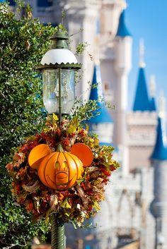 main street disney halloween decorations.