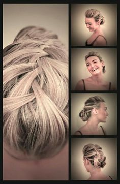 Soft plait with bun perfect for bridal hair Styled by Roxy Farrier