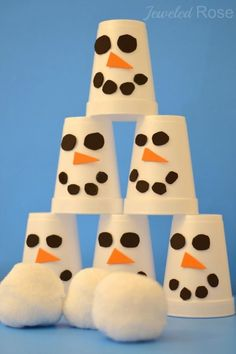 11 Christmas Party Games Just for the Kids: Snowman Slam from Growing a Jeweled Rose