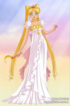 Princess Serenity ~ by sailormoonstar154 ~ created using the Sailor Senshi doll maker | DollDivine.com