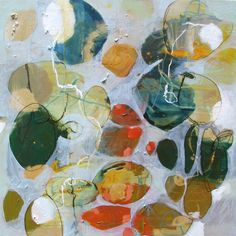 """Elizabeth Barber Leventhal mixed media painting on canvas """"Summer's Light"""""""