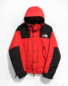 a5182641d887 RARE Vintage 90s The North Face Gore-Tex Mountain Jacket Red Black Size L