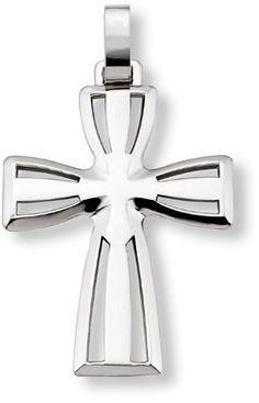 ApplesofGold.com - Men's 14K White Gold Cross Pendant