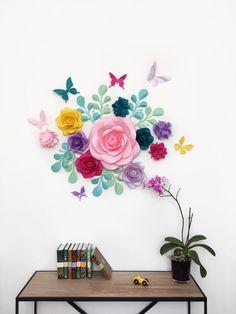 Habitación de bebé ducha partido decoración  flores de papel
