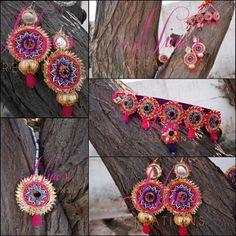 #handmade #jewelry #gota #earrings https://www.facebook.com/pages/Ninos-creations/123853704344831