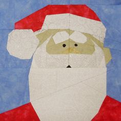 Santa Paper Piecing Block - This adorable free block pattern shows you how to use classic paper piecing techniques to create a quilt block that everyone will recognize.