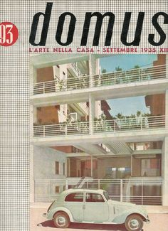 DOMUS Magazine, September 1935. Art, Architecture & Design magazine founded by Gio Ponti (1928)