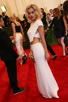Rita Ora in Thakoon at the Met Gala [Photo by Evan Falk]