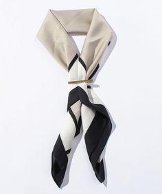 【セール】カラーブロックスカーフ(500259567) | オフオン(OFUON) - MAGASEEK