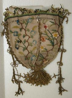 Embroidered purse from the Metropolitan Museum of Art