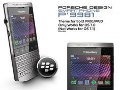 BlackBerry Porsche Themes Design P'9981         Blackberry Porsche p9981 is one of the exclusive line of Blackberry. Limited and hard to get, but now you can feel how Blackberry Porsche themes work on Blackberry Bold 9900, Blackberry Bold 9930, that works on OS7.0. Also Blackberry Curve 83xx – 9800, and Blackberry 9860 / 9850.