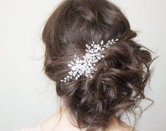 Crystal Wedding Headpiece Bridal Headpiece by gadegaarddesign