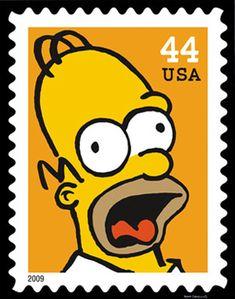 Stamps Postage - Homero Simpson