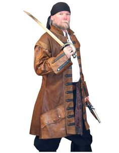 Buccaneer Surcoat, all leather, tones of colors and options base price $595