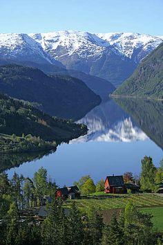Ulvik, Hardangerfjord ~ Hardangervidda National Park, Norway.   Yep, this is it, my future home.