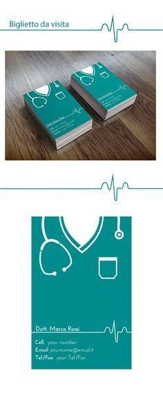 Biglietto da visita per un dottore Medical doctor's business modern card