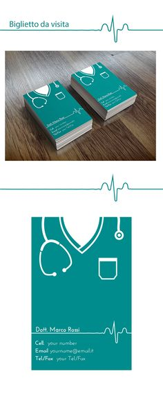 Biglietto da visita per un dottore Medical doctor's business modern card