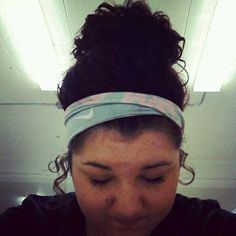 Messy buns and nike head bands<3