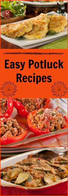 Easy recipes for all the upcoming potlucks! Church Potluck Recipes, Easy Potluck Recipes, Potluck Dishes, Healthy Dinner Recipes, Great Recipes, Easy Meals, Cooking Recipes, Favorite Recipes, Cheap Side Dishes