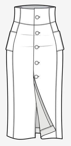 Men's Denim Jeans Style Trouser Technical Drawing