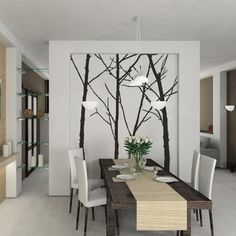 dining room wallpaper modern - Google Search