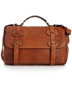 patricia nash handbag cadiz washed leather studded large flap bag on popscreen