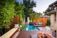 20 backyard pool designs decorating ideas [modern backyard] backyard landscaping ideas with beautiful landscaping small backyards with pools home 23 small pool Small Backyard Design, Backyard Pool Designs, Small Backyard Landscaping, Modern Backyard, Large Backyard, Landscaping Ideas, Backyard Ideas, Backyard Plan, Deck Design