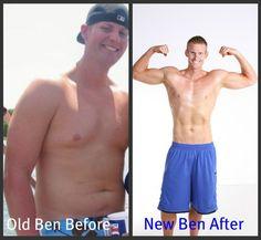 Ben Novak - before and after Jeremy Scott Fitness