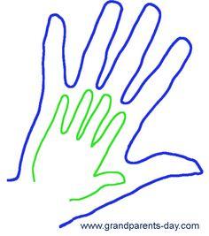 Hand in Hand Grandparent's Day Idea