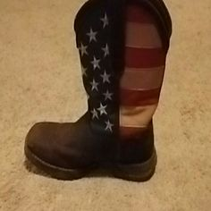 Boots American flag Durango  Shoes Heeled Boots