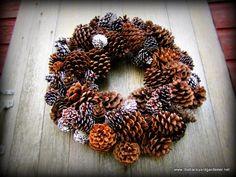 cute!!!  https://www.etsy.com/es/listing/113855482/winter-pine-cone-wreath-pinecone-wreath