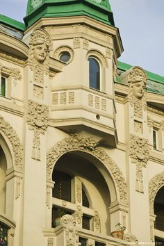 Ornate building on Kralja Milana Street, Belgrade, Serbia #travel #historical