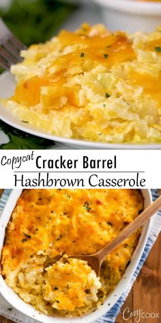 This Copycat Hash Brown Casserole is a perfect breakfast idea and tastes just like the Cracker Barrel version! There are easy make-ahead steps and you can freeze leftovers! # breakfast casserole with hashbrowns Copycat Cracker Barrel Hashbrown Casserole Cracker Barrel Hashbrown Casserole, Hashbrown Casserole Recipe, Casserole Dishes, Potato Casserole Hash Brown, Cracker Barrel Hash Brown Casserole Recipe, Egg Bake With Hashbrowns, Chicken Biscuit Casserole, Cheesy Potatoes With Hashbrowns, Cracker Barrel Pancakes