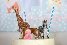 Zoo animals and polka dots Birthday Party Ideas | Photo 7 of 24 | Catch My Party