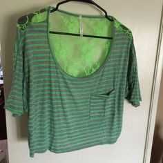 New item- spring fever!size Lg Gotta luv this lime green lace back crop top.size is large with front spandex.brand new item never worn Manito usa Tops Crop Tops Spring Fever, Lace Crop Tops, Green Lace, Lace Back, Fashion Tips, Fashion Design, Fashion Trends, Spandex, Brand New