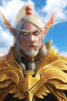 Lor'themar by Kyle Punk Art Herring Freelance Illustrator and Concept Artist Wow Of Warcraft, World Of Warcraft 3, World Of Warcraft Characters, Elf Characters, Warcraft Art, Fantasy Characters, Character Portraits, Character Art, War Craft