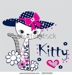 Find Fashionable Cat Tshirt Design Vector Illustration stock images in HD and millions of other royalty-free stock photos, illustrations and vectors in the Shutterstock collection. T Shirt Design Vector, Patch Aplique, Image Notes, Cartoon Drawings, Cat Art, Cute Wallpapers, Illustration, Hello Kitty, Boys T Shirts