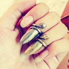 Pierścionek pazur top-finger