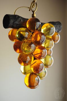 Grape Lucite/Acrylic Cluster Lamp/Light Vintage by OmniaOddities, $75.00