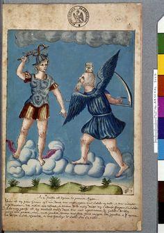 Illustration pour Le Livre d'Abraham le Juif : la rencontre entre Mercure et Saturne - Nicolas Flamel
