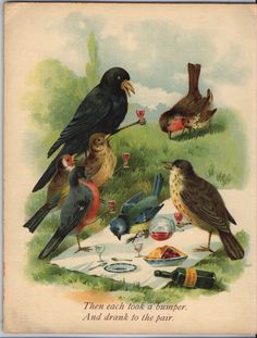 from ''WHO KILLED COCK ROBIN'', Raphael Tuck & Sons, early 1900s.