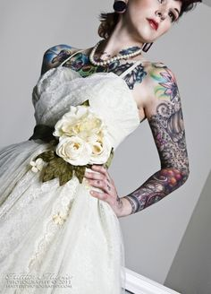 Something i hear a lot from people reacting to me wanting for Tattoos and wedding dresses