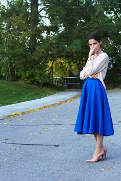 DIY, tutorial for a full circle skirt with waistband and invisible zipper