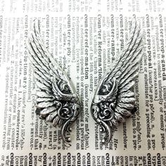 Ear Cuff Valkyrie Silver Wing by ValkyrieCouture on Etsy, $39.00