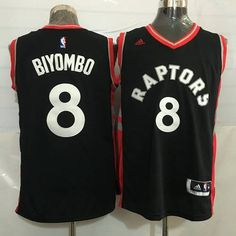 6efa9847bba Men s Toronto Raptors  8 Bismack Biyombo Black With Red New NBA Rev 30  Swingman Jersey