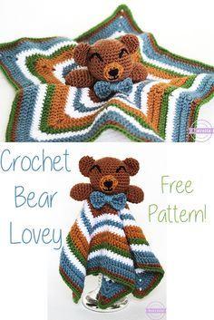 Cuddliest Crochet Bear Lovey | Free Pattern from Sewrella