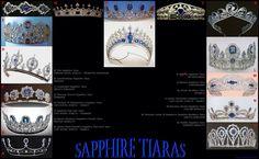 SAPPHIRE TIARAS ~ from Michel Bergagnini's Royal Jewels Fan Club on FB