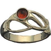 Elizabeth's Scottish Jewels :: Rings :: Amber and Gold Art Nouveau Ring